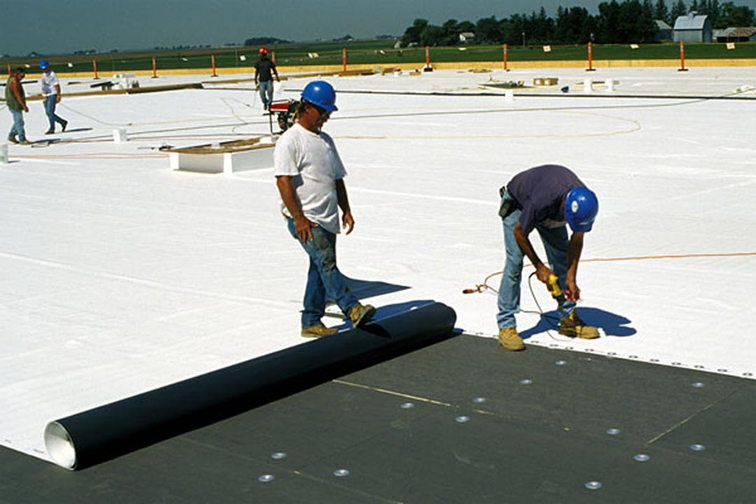 Mechanically fastened TPO roofing